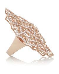 Anita Ko | Metallic Spiderweb 18karat Rose Gold Diamond Ring | Lyst