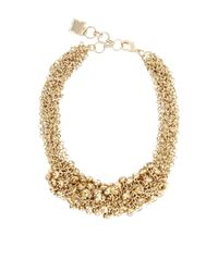BCBGMAXAZRIA | Metallic Drop Stone Necklace | Lyst