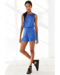 Silence + Noise | Blue Two Twisted Romper | Lyst