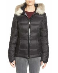 Pajar | Black 'harlow' Genuine Coyote Fur Trim Hooded Down Jacket | Lyst