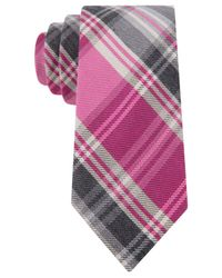 Tommy Hilfiger | Pink Plaid Slim Tie for Men | Lyst