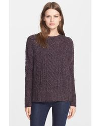 Autumn Cashmere | Purple Crewneck Cashmere Sweater | Lyst
