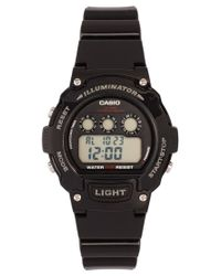 G-Shock - W214hc1avef Digital Black Strap Watch for Men - Lyst