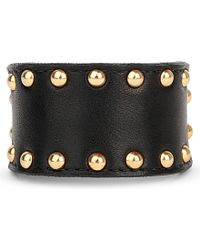 Zana Bayne | Black Studded Leather Buckle Bracelet | Lyst