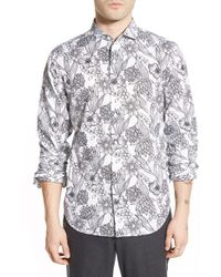 Bonobos | Multicolor Slim Fit Floral Print Spread Collar Sport Shirt for Men | Lyst