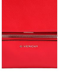 Givenchy | Red Small Pandora Pure Waxed Leather Bag | Lyst