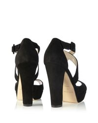 Karen Millen | Black Platform Sandal | Lyst