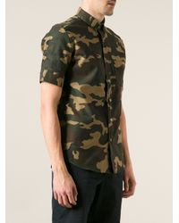 AMI - Green Printed Shirt for Men - Lyst