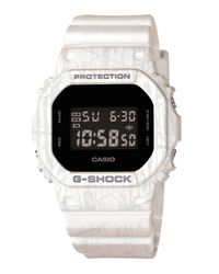 G-Shock | White Slash Resin Strap Digital Watch for Men | Lyst