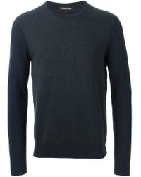 Michael Kors - Blue Contrast Sleeve Sweater for Men - Lyst