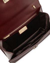 Ferragamo - Brown Ginny Medium Saffiano Shoulder Bag - Lyst