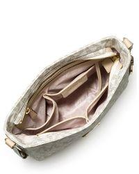 MICHAEL Michael Kors | White Jet Set Large Travel Messenger Bag | Lyst