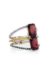Oscar de la Renta - Multicolored Pave Octagonal Stone Bracelet - Lyst