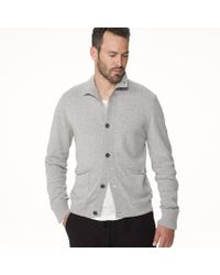 James Perse Gray Marled Wool Blend Cardigan for men