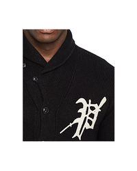 Polo Ralph Lauren | Black Big And Tall Varsity Shawl Cardigan for Men | Lyst
