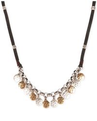 Lucky Brand | Metallic Silver-Tone And Gold-Tone Disc Necklace | Lyst