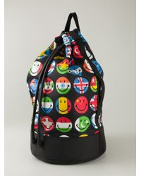 Moschino | Multicolor Smiley Face Print Backpack for Men | Lyst