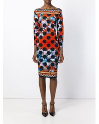 Roberto Cavalli - Black Printed Shift Dress - Lyst
