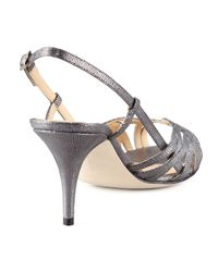 kate spade new york - Shari Metallic Lizard-print Sandal - Lyst