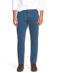 Dockers | Blue 'alpha Khaki - Finish' Slim Fit Pants for Men | Lyst