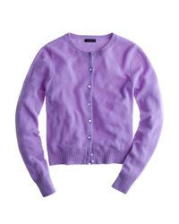 J.Crew | Purple Collection Cashmere Cardigan Sweater | Lyst
