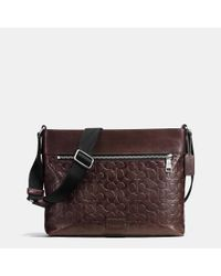 COACH | Brown Sam Crossbody In Signature Sport Calf Leather for Men | Lyst