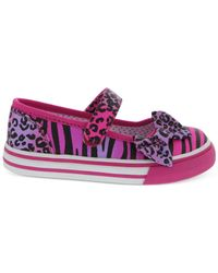 Nina - Pink Little Girls' Mary Jane Bow Sneakers - Lyst