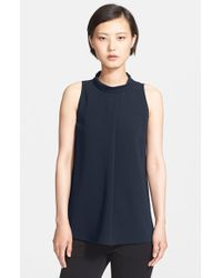 Theory | Black 'talniza' Crepe Top | Lyst