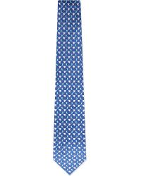 Ferragamo | Blue Elephant & Paisley-print Tie for Men | Lyst