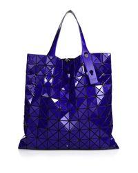 Bao Bao Issey Miyake - Blue Prism Basic Metallic Faux Leather Tote - Lyst