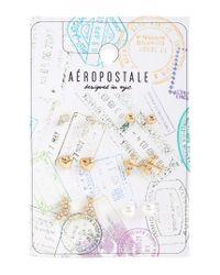 Aéropostale | Metallic Wanderlust Stud Earring 6-pack | Lyst