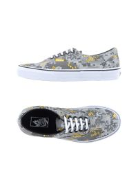 Vans - Gray Low-tops & Trainers - Lyst