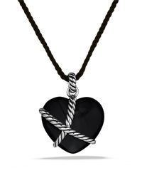 David Yurman | Cable Heart Pendant with Black Onyx On Cord | Lyst