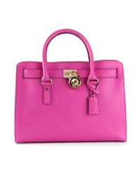 MICHAEL Michael Kors - Pink Hamilton Large Shoulder Bag - Lyst