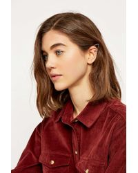 Urban Outfitters - Metallic Pearl Triangle Ear Cuff - Lyst
