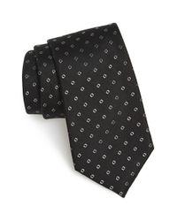Calibrate - Black 'traill Neat' Geometric Silk Tie for Men - Lyst
