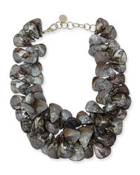 Nest | Gray Mother-of-pearl Cluster Necklace | Lyst