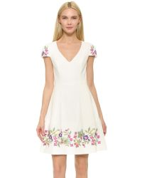Notte by Marchesa - White Embroidered Cocktail Dress - Lyst