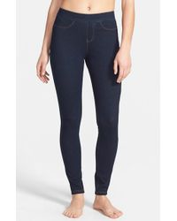 Hue | Blue Curvy Fit Jean Leggings | Lyst