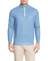 Peter Millar | Blue 'perth' Quarter Zip Houndstooth Pullover for Men | Lyst