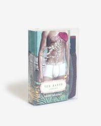 Ted Baker - Purple Geo Print Boxer Shorts for Men - Lyst