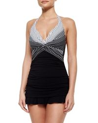 Gottex - Black Dolce Vita Halter Swim Dress - Lyst