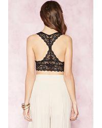 Forever 21 - Black Caged Ornate Lace Bralette - Lyst