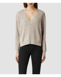 AllSaints - Natural Vix Sweater - Lyst