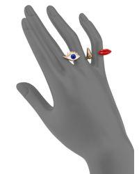 Delfina Delettrez | Metallic Anatomik Polifemo Double Ring | Lyst