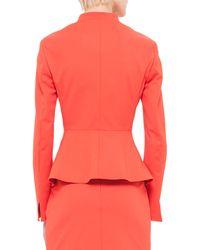 Akris - Orange Peplum Stretch-crepe Jacket - Lyst