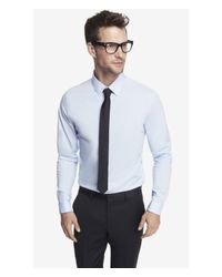 Express | Blue Fitted French Cuff 1mx Shirt for Men | Lyst