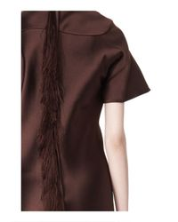Alexander Wang - Brown Exclusive T-Shirt Dress With Fringe - Lyst