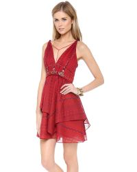 Free People | Leia Embroidered Dress | Lyst