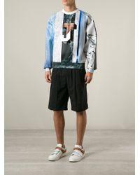Juun.J - White Mixed-Print Sweatshirt for Men - Lyst